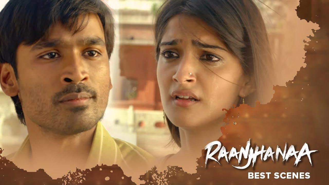 Raanjhanaa Best Scenes -  Dhanush & Sonam Kapoor - Hindi Superhit Movie