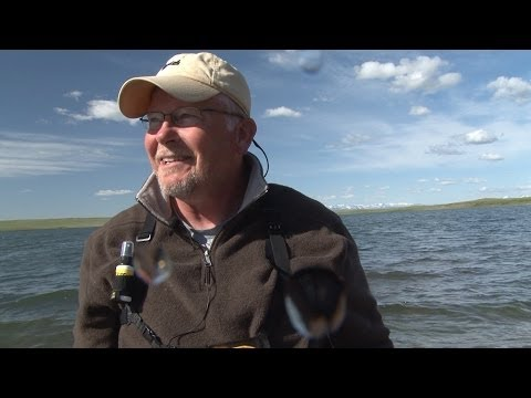 Fly Fishing Montana: Larry Hardie Catches Big Fish At Mission Lake (Blackfeet Indian Reservation)