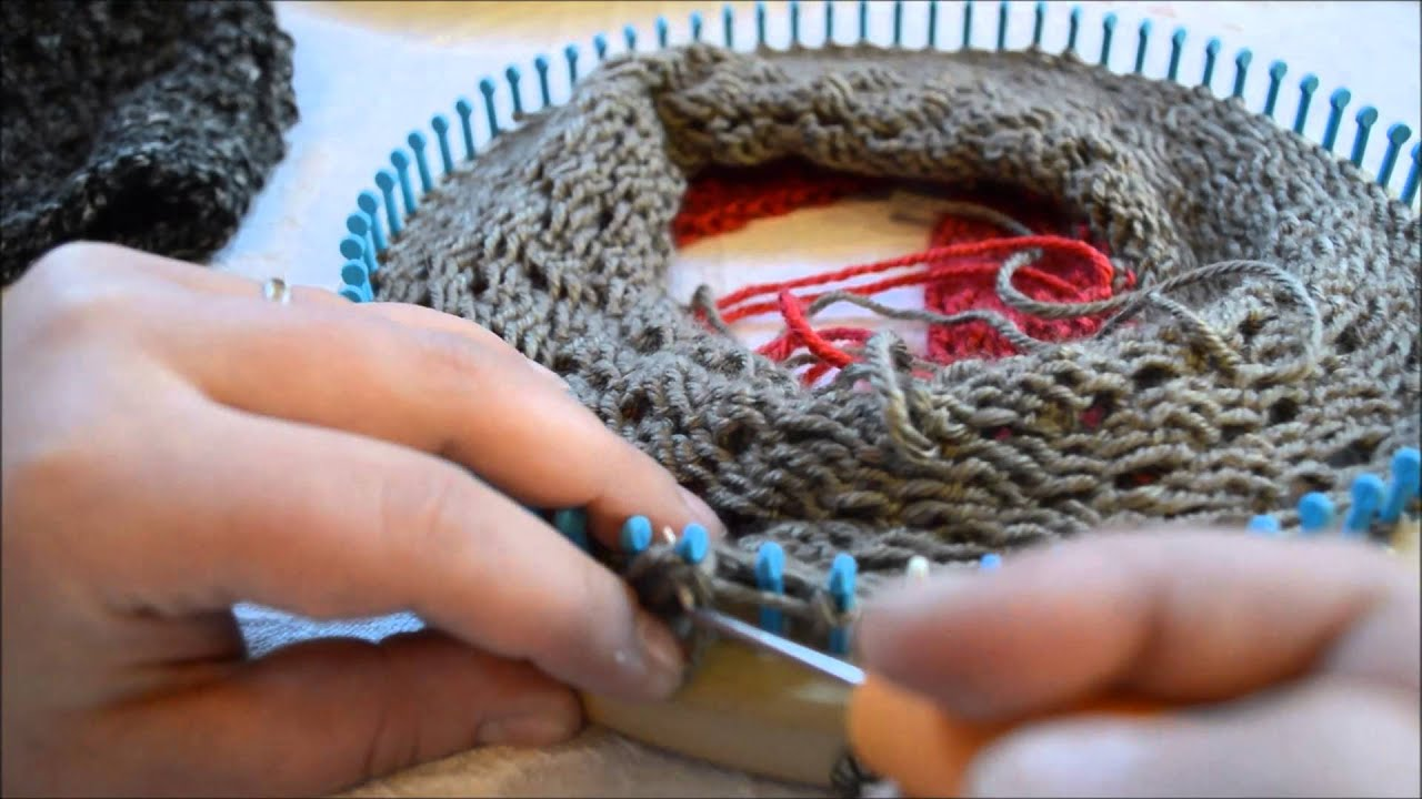 Knit Purl Stitch Loom : Loom Technique: Knit, Purl, Knit On Same Peg or Stitch - YouTube