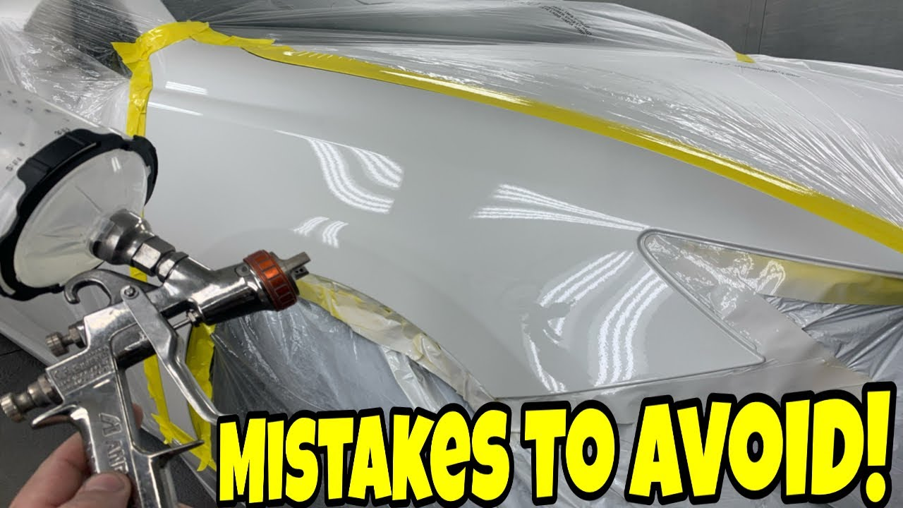 The Most Common Mistakes to Avoid when Painting a Car!
