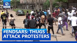 #EndSARS Protest In Edo Turns Bloody As Thugs Attack Protesters