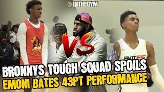 Bronny's Squad knocks off Emoni Bates and spoils his 43 point performance!