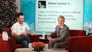 Ellen Busts Adam Levine