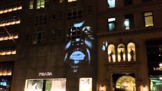 "Kanye West ""New Slaves"" video on 5th Ave Prada store NYC"