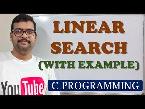 C PROGRAMMING - LINEAR SEARCH
