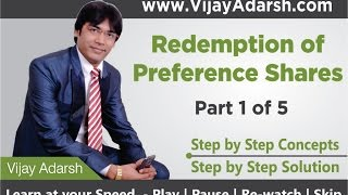 Redemption of Preference Shares - 1 of 5 by Vijay Adarsh   StayLearning  (HINDI   हिंदी)
