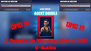 Fortnite I Buy The Skin ''Double Agent' In The Shop !!!