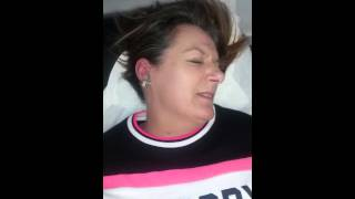 Woman in pain lol
