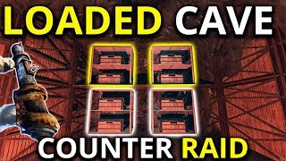 ROCKET RAIDING AN INSANELY RICH CAVE BASE - Rust Solo Survival Gameplay 3/3