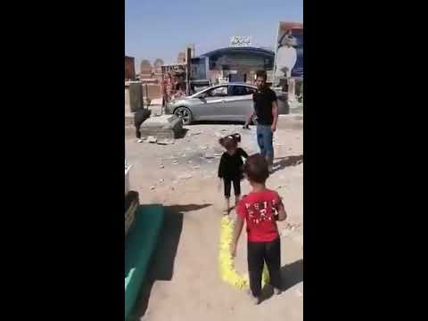 الطفله فاطمه سلام شعلان تزور امها بعد ثلاتة ايام من وفاتها