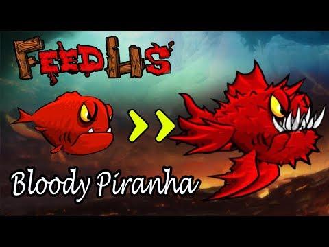 Bloody Piranha !!   Feed Us Lost Island #1