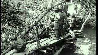 British Troops Supervise Building Of Bridge Across The Wami River To Facilitate T...hd Stock Footage