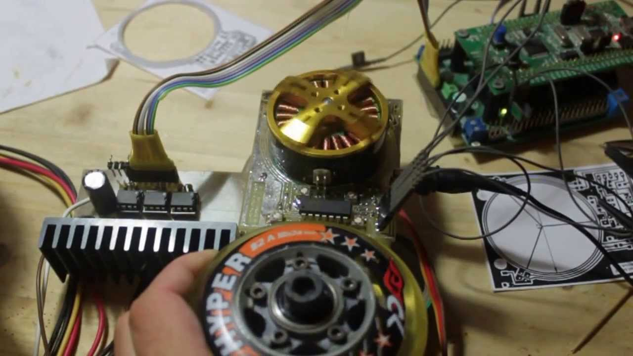 Bldc With Linear Hall Sensors From Cdrom Svpwm Youtube