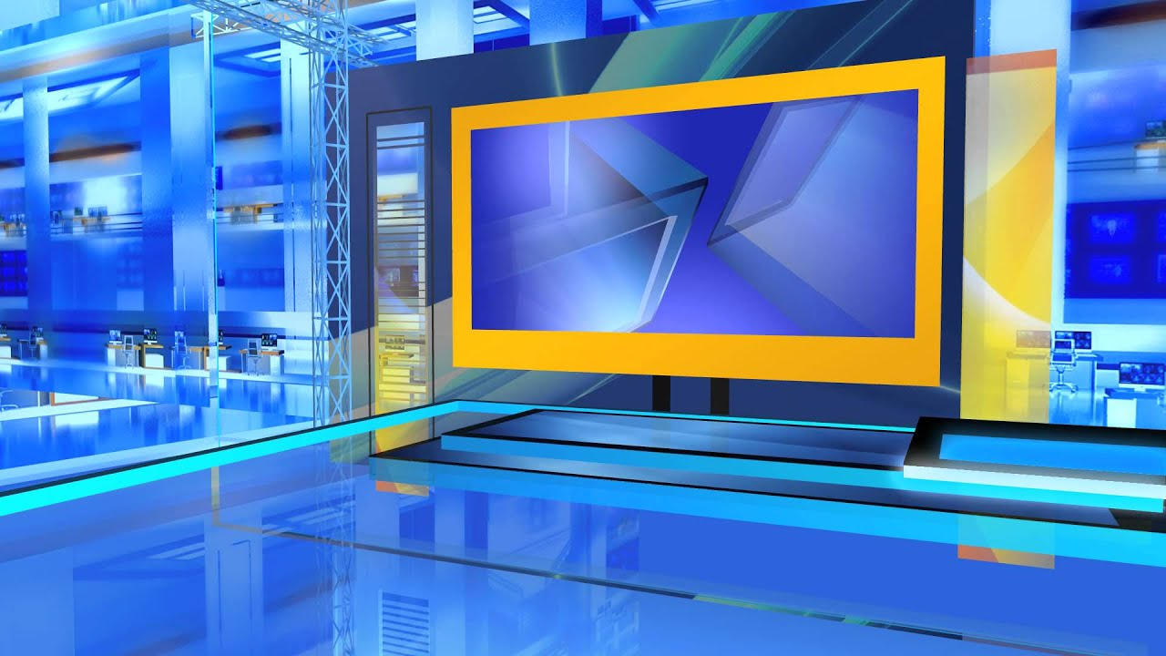 Television set design news studio youtube for Office design news