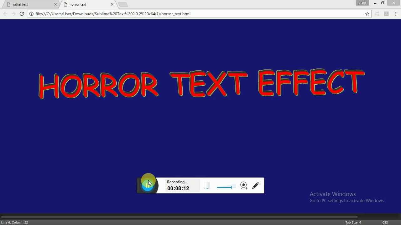 HORROR TEXT EFFECT(PURE CSS)