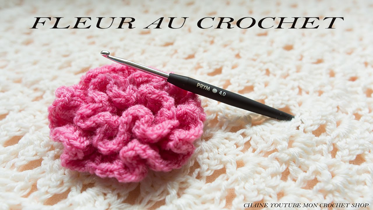 comment faire une fleur au crochet facile pour d butant youtube. Black Bedroom Furniture Sets. Home Design Ideas