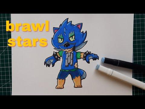 dessin léon loup brawl stars - youtube