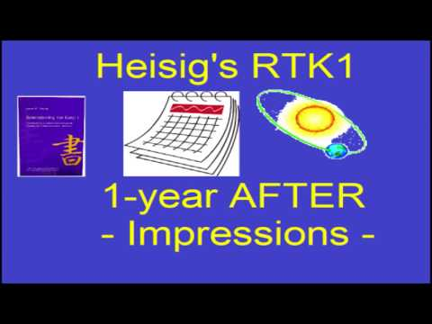 1-year After Heisig's RTK1 - Impressions