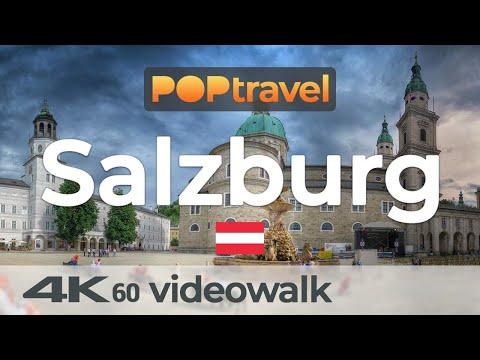 Walking In SALZBURG / Austria 🇦🇹- 4K 60fps (UHD)