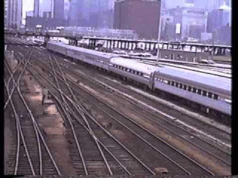 VINTAGE TRAINS CHICAGO 1988.