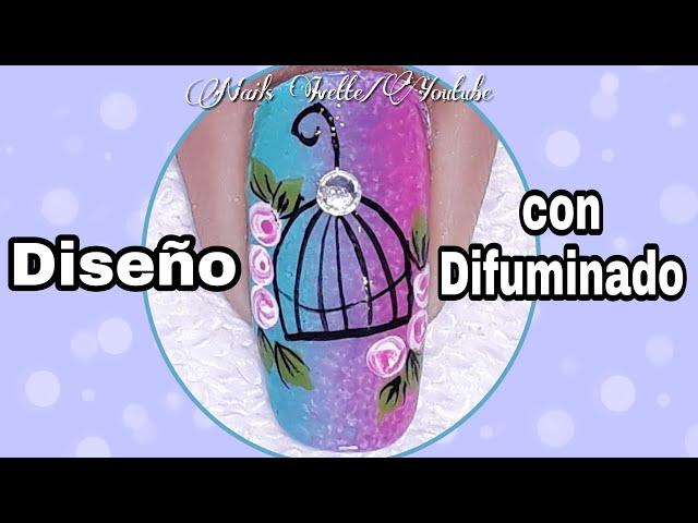 Decoración de uñas con difuminado/diseño de unas vintage/diseño de uñas jaula