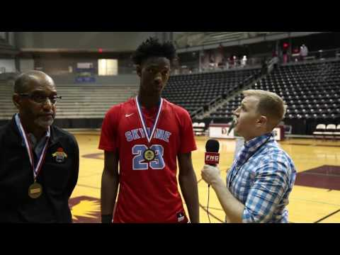 Dallas Skyline Basketball Coach Paul Graham and Point Guard Marcus Garrett 12 30 2016