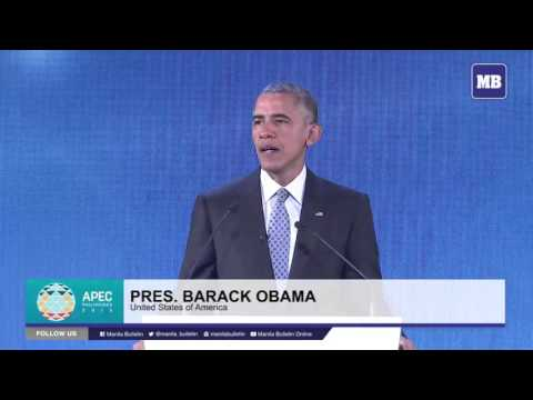 US President Obama's speech at the APEC CEO Summit 2015