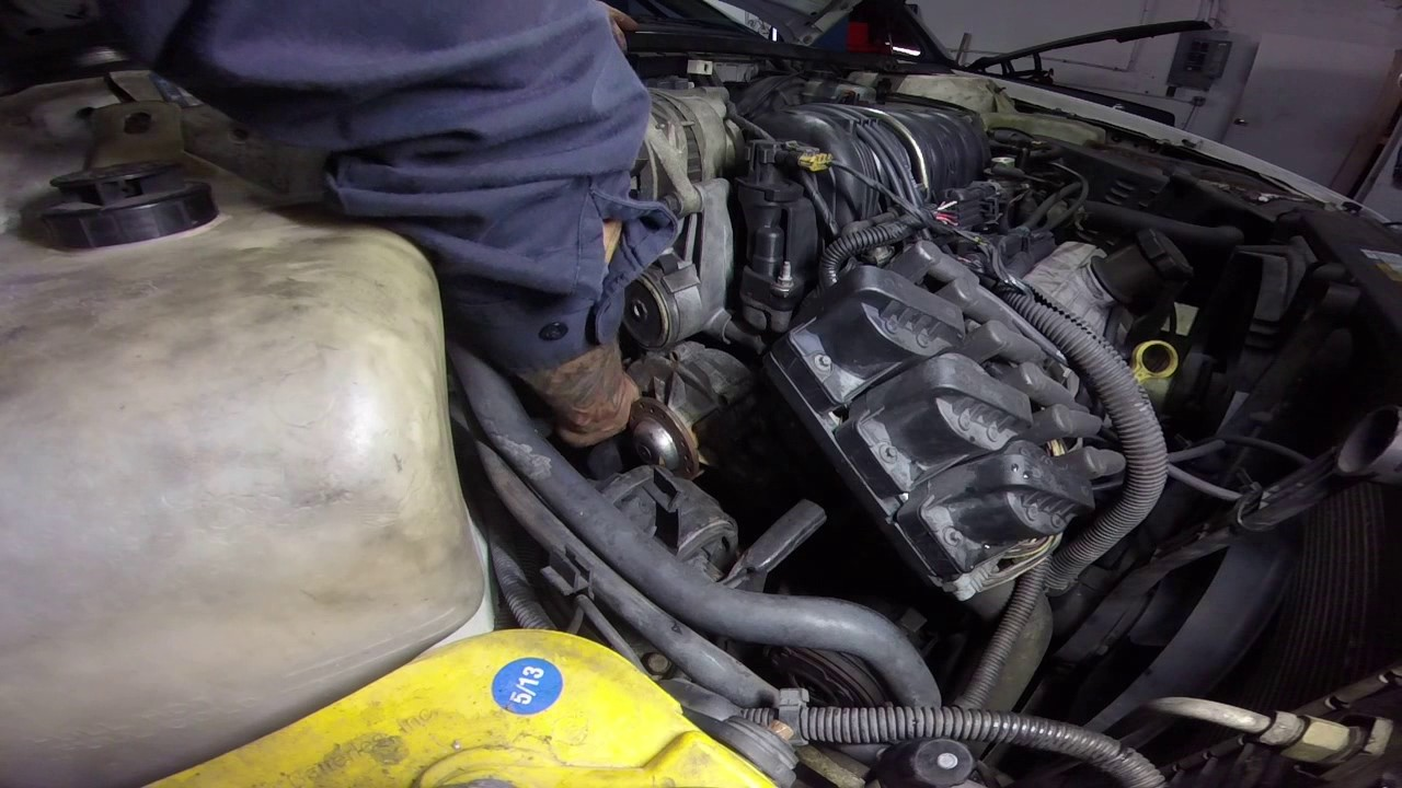 Olds 88 38 Water Pump Youtube 1992 Oldsmobile Picture Of Engine