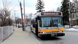 MBTA Bus: AN440LF [#0422] Route 94 at Boston Ave & High St