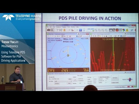 Using Teledyne PDS Software for Pile Driving Applications