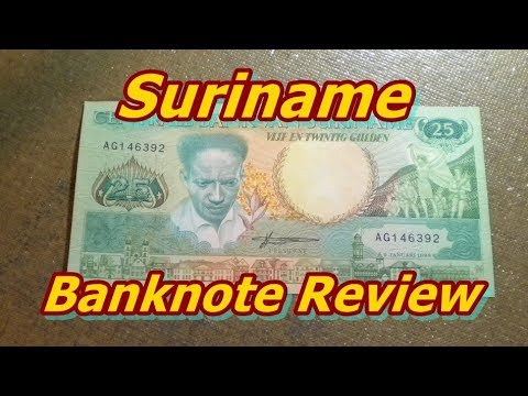 Suriname 25 Gluden Banknote Review
