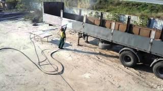 видео пескоструйные работы