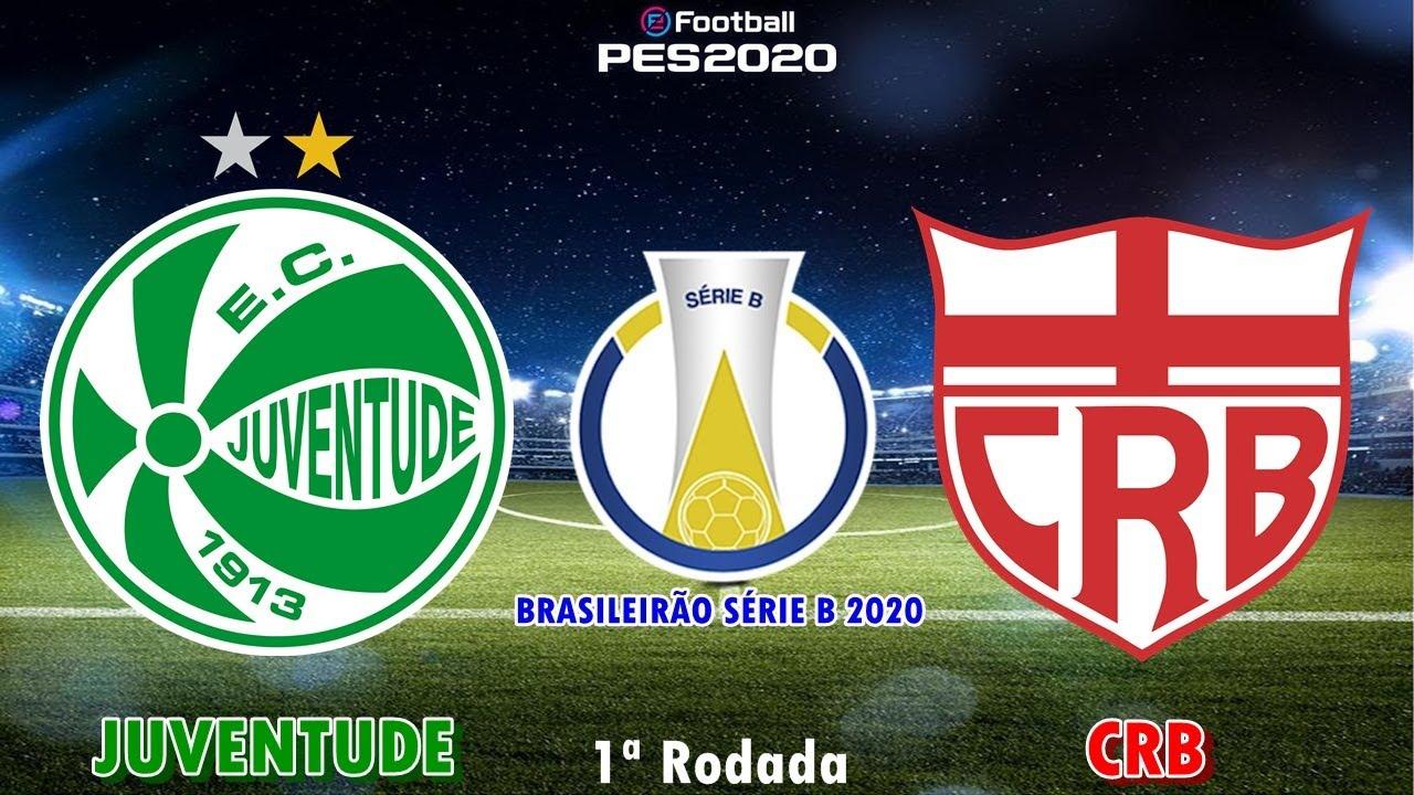 PES 2020 - Juventude x CRB | Brasileirão Série B 2020 | Gameplay. PS4