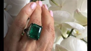 Boghossian Colombian emerald and beryl ring