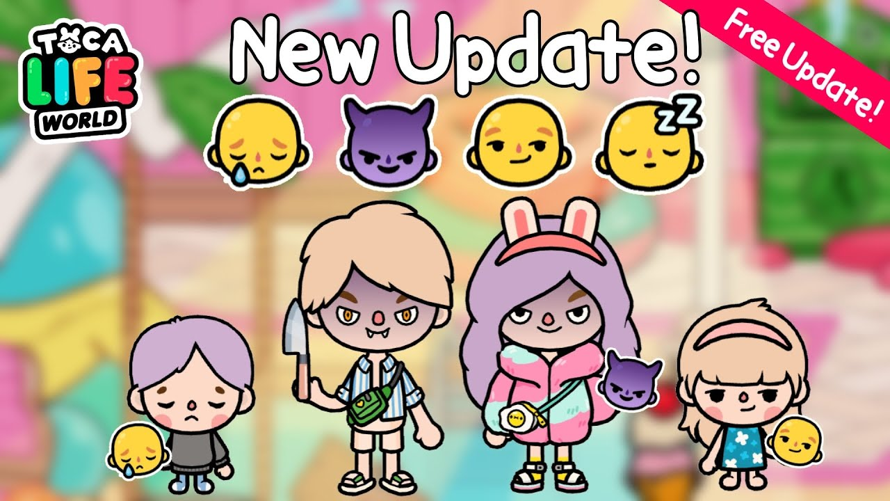 Download NEW FACE UPDATE!! 😢😈😏😴 | New Expression | Free Updated | Toca Life World🌏