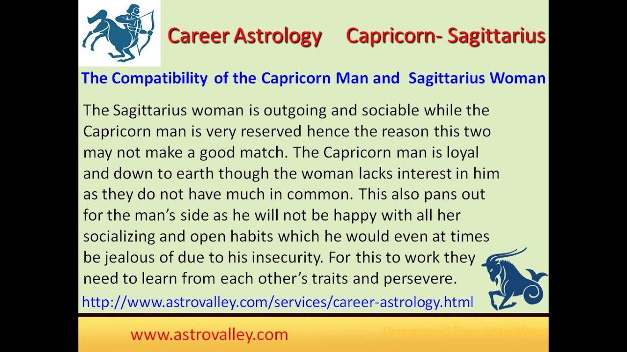 Compatibility of capricorn and sagittarius