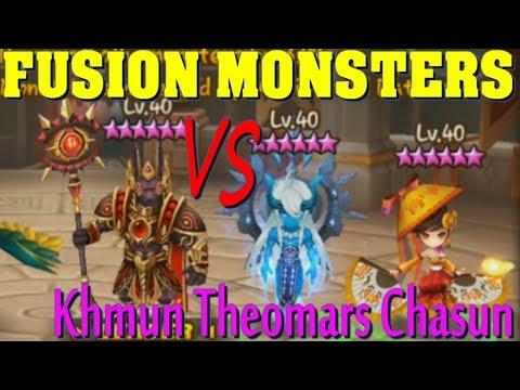 Summoners War - Fusion Monsters vs Khmun Theomars Chasun in GW!!!