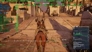 Assassin's Creed Origins(Alexandria) fps test on W3670@4.2Ghz +1080TI