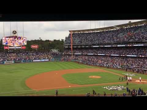 Sandy Koufax Throws First Pitch at Game 7 of the 2017 World Series