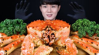 4KG 킹크랩 먹방ASMR MUKBANG KING CRAB 帝王蟹 キンクレプ Raja Kepiting Cua vua ราชาปู eating sounds