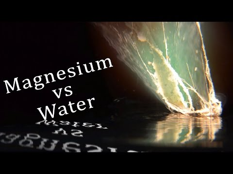 Magnesium Ribbon Vs Water In Slow Motion And Infrared