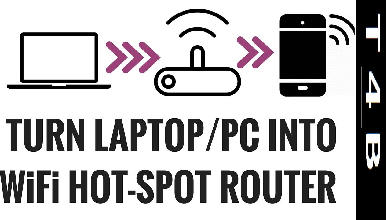 How To Turn Laptop Into Wifi Hotspot Windows 7 8 10 Xp Pc