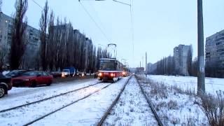 Харьков. Героев Труда, ДТП и трамвайная пробка - Kharkiv. Traffic Collision