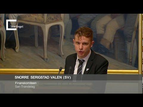 Snorre Valen i finansdebatten 5. desember 2016.
