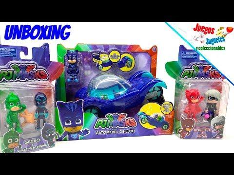 Unboxing PJ MASKS coleccion, Bandai Mx ★ juegos juguetes y coleccionables ★