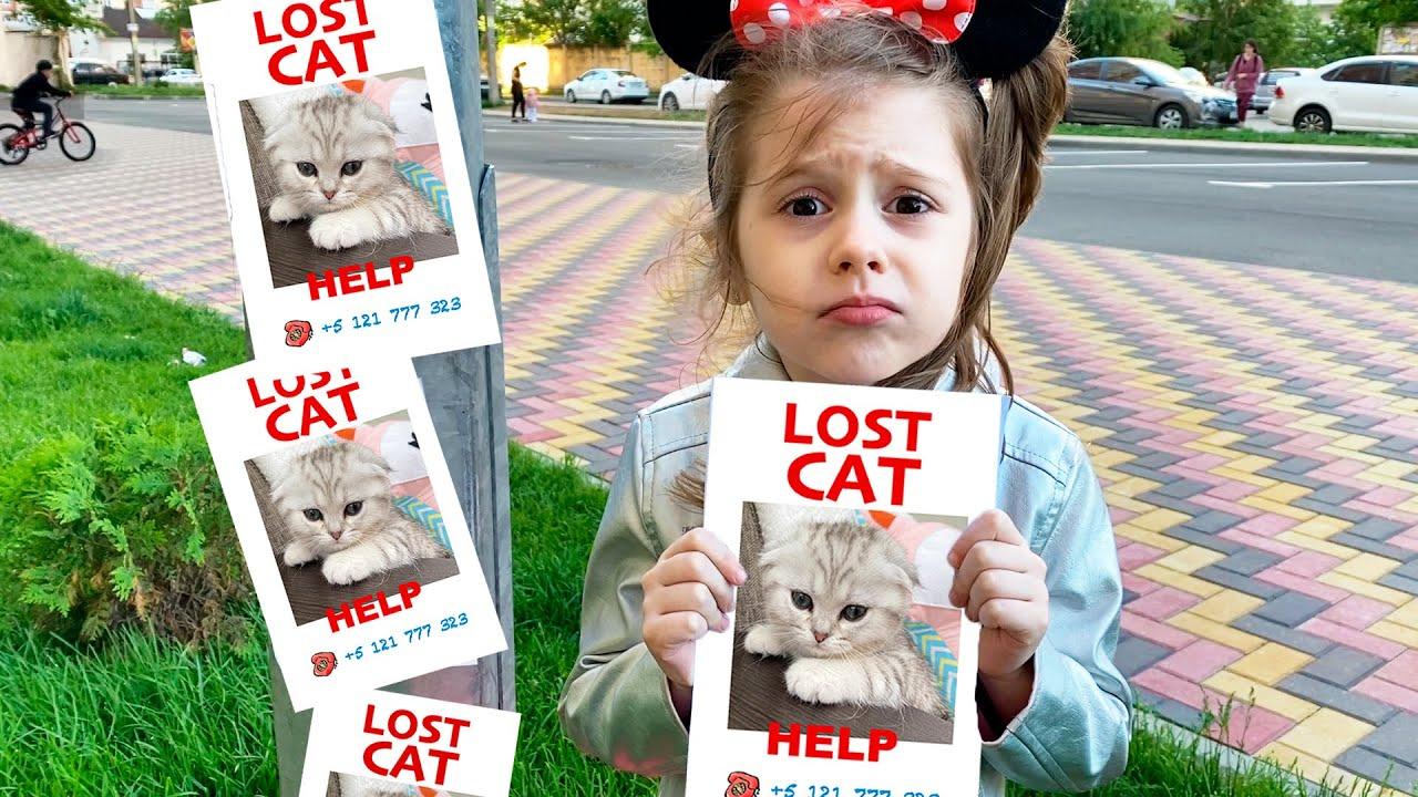 أمي تتظاهر بأنها مربية ، والطفل يبحث عن قطة ويلعب ويمرح - نكت للأطفال