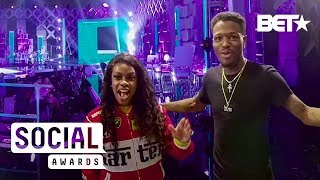 Throwback   VR180 BTS: Jess Hilarious and DC YoungFly Snap on Each Other   The Social Awards