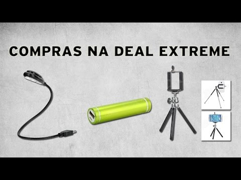compras-na-dx---bateria-externa-/-mini-tripé-e-luminária-usb