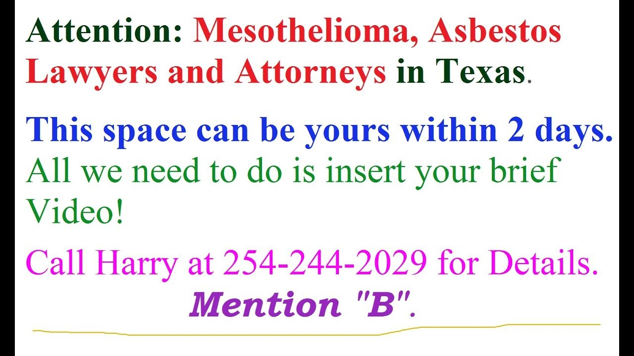 Best Lawyer Mesothelioma Dallas Texas