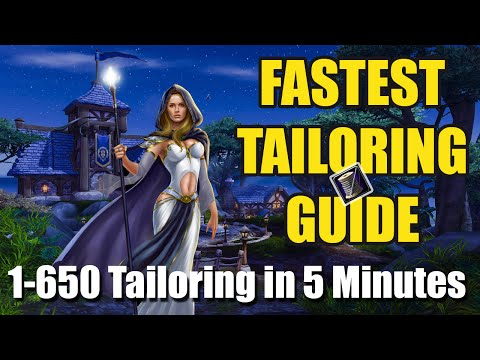 WoW Tailoring Guide (1-650 in 5 Minutes) Fast Professions Powerleveling